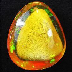 60.00ct Finest & Rare (Shark Fin) Phantom Patterend! Golden Base Welo Opal
