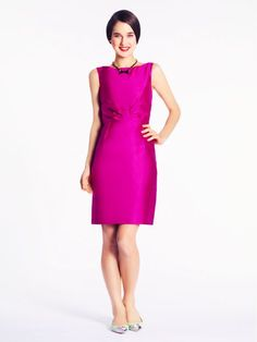 Evie dress | Kate Spade on sale $159 (BRIGHT MAGENTA)