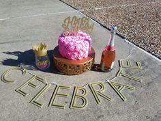 f1ab27706930d9 21st Birthday photo shoot props - Smash Cake, Wine glass, & wine bottle