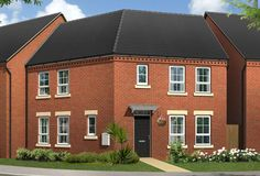 new build 3 bed semi houses exterior - Google Search New Builds, Building A House, Exterior, Houses, 3d, Mansions, Google Search, House Styles, Modern