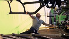 """HERE'S SOME BEHIND THE SCENES ARMS.   We Need To Talk About Captain America's Biceps in """"Civil War"""""""
