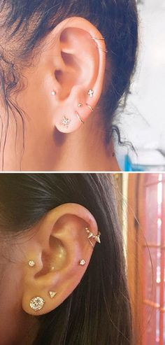 Piercings: The Dreamy New Trend You Should Know About Why women are queuing up to get a constellation piercing right now.Why women are queuing up to get a constellation piercing right now. Piercing Tattoo, Piercing Implant, Piercing Septum, Septum Nose Rings, Cute Ear Piercings, Cartilage Earrings, Stud Earrings, Tongue Piercings, Ear Jewelry