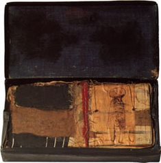 Hannelore Baron - UNTITLED, 1980  mixed media box construction  2 ¼ x 6 ⅛ x 6 inches