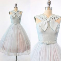 "{SOLD} N E W! ❄️Ice blue lurex and chiffon wide strap halter dress! { size XXS/ 31"" bust - 24"" waist}"