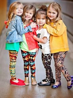 Leggings estampadas para as meninas #moda #kidsfashion #girls