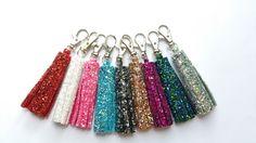 Items similar to Glitter Key Ring Handbag Charm Tassel on Etsy Glitter Keys, Aqua Blue, Pink, Floral Headbands, Free Uk, Love Is All, Little Gifts, My Bags, Key Rings