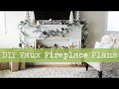 Faux Fireplace Mantle with Hidden Storage - YouTube