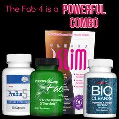Fab 4 = Powerful combo! www.plexusstacy.com
