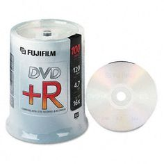 Fujifilm Media 25303100 DVD+R 4.7 GB 120 Minutes 16X Storage Media - 100 Pack Spindle by Fuji. $46.49. The Fujifilm DVD+R disc has 4.7GB or 120 minutes of recordable space for large, multimedia files. This write-once recordable disc is highly compatible with most current DVD players and DVD-ROM drives making it perfect for recording and storing home movies, television programming, computer data, Internet downloads, multimedia programs, music, photographs and more. By ...