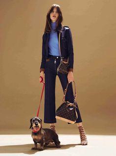 Anastasiia Gorshenina by Félix Valiente for Glamour Spain August 2015 - Louis Vuitton Pre-Fall 2015