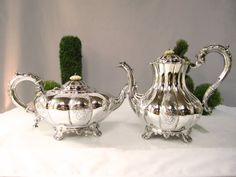 Antique Sheffield Plate Silver Tea And Coffee by InventifDesigns