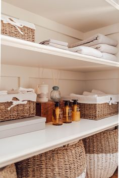In 4 easy steps, turn your linen closet into a space where every thing is neatly tucked away.