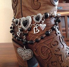 Boot Jewelry Boot Bracelet Boot Bling Boot Charms by DorysBoutique