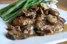 bonefish grill fontina chops - Just had this for dinner last night and it is SO DELICIOUS! Bonefish Grill Recipes, Grilling Recipes, Other Meat Recipes, Breaded Pork Chops, Grilled Salmon Recipes, How To Cook Pork, Grilled Mushrooms, Risotto Recipes, Pork Chop Recipes