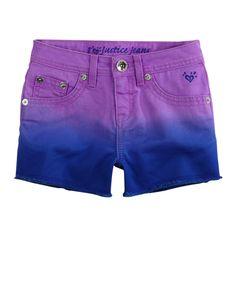Girls Clothing | Shorties 2½ Inseam | Dye Effect Fray Hem Denim Short | Shop Justice 14