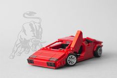 This LEGO Lamborghini Countach is a red-hot Italian classic extravaganza