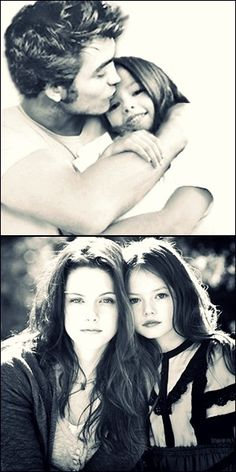 I don't really like the Twilight movies too much but this girl actually looks like she could be their daughter!
