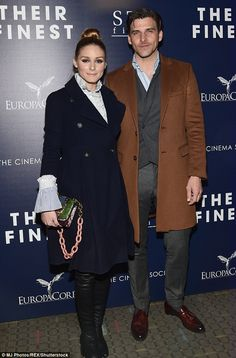 Similar styles:Olivia Palermo and Johannes Huebl made a stylish entrance for Their Finest...