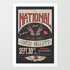 The National (Limited) Art Print by Jon Contino - $20.00