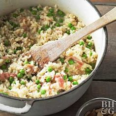 Learn how to turn rice into a delightful and creamy side dish with this classic pea risotto recipe.