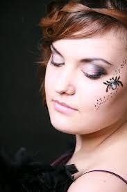 Znalezione obrazy dla zapytania makijaż wieczorowy z kolorem Halloween Face Makeup