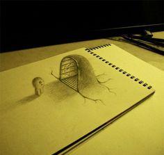 3d+drawings+on+paper | 3D Drawings