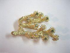 VINTAGE ESTATE JEWELRY 14K YELLOW GOLD W/ DIAMOND & PERIDOT STONE BROOCH PIN #1 Peridot Stone, Green Stone, Brooch Pin, Yellow, Diamond, Gold, Free, Ebay, Vintage