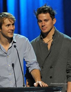 Robert Hoffman and Channing Tatum. This pic is missing one thing... ME IN THE MIDDLE! My twoo dream men! LOVE THEM