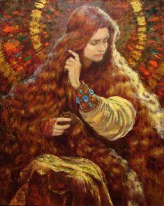 The gold / oil/canvas / variant by *Vladimir-Kireev on deviantART: Marie Madeleine, Oil Canvas, Mary Magdalene, Sacred Feminine, Pre Raphaelite, Classical Art, Art And Illustration, Religious Art, Beautiful Paintings