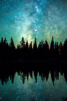 Nature Wallpaper: Let's Fly Away — banshy: Devils Lake // Andy Best Beautiful Sky, Beautiful Landscapes, Beautiful World, Natur Wallpaper, Ciel Nocturne, Into The Woods, Photos Voyages, Night Skies, Sky Night