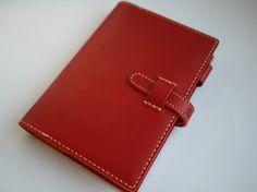 文庫本サイズのノート(手帳)カバー・赤