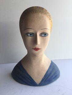French Milliners Paper Mache Head image 2