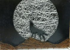 cool String art wolf!...