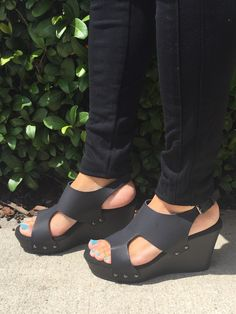 Strut Your Stuff Wedge - Black from Chocolate Shoe Boutique