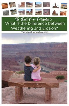 What is erosion? What is weathering? What causes erosion? What causes weathering? What is the difference between weathering and erosion? These questions and more are very important to answer. Find information about it here! Earth Science Activities, Science For Kids, Science Ideas, Learning Activities, Weather Experiments, Science Experiments, Weathering And Erosion, Homeschool Kindergarten, Homeschooling