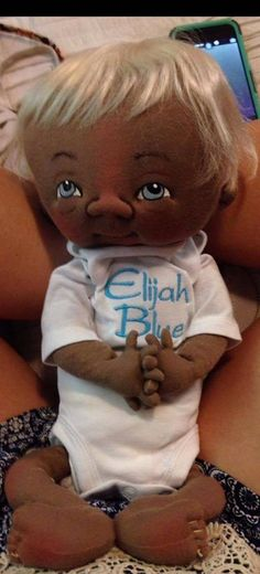 "Jan Shackelford Convention Baby Elijah Blue 14-15"" 2016 