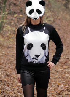 Kupuj mé předměty na #vinted http://www.vinted.cz/damske-obleceni/s-dlouhymi-rukavy/7836671-zvireci-mikina-s-pandou-panda-hipster-potisk