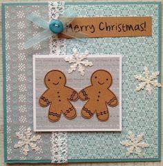 Ginger Bread Man Christmas Card - LindaCrea
