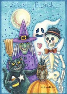 FAMILY PORTRAIT by Susan Brack ~ Halloween