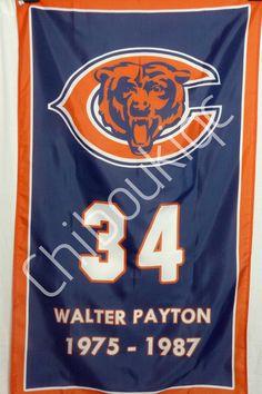 3e6013fb75c Chicago Bears Walter Payton LARGE 3x5 career banner poster jersey | eBay Walter  Payton, Chicago