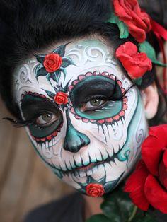 Awesome sugar skull halloween makeup