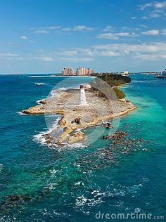 Tip of Paradise Island, with Lighthouse, in Nassau, Bahamas -- Been There, Done That :)
