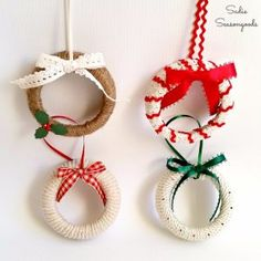Best DIY Ornaments for Your Tree - Best DIY Ornament Ideas for Your Christmas Tree - Mason Jar Lid Ornaments - Cool Handmade Ornaments, DIY Decorating Ideas and Ornament Tutorials - Creative Ways To Decorate Trees on A Budget - Cheap Rustic Decor, Easy Step by Step Tutorials - Holiday Crafts for Kids and Gifts To Make For Friends and Family http://diyjoy.com/diy-ideas-christmas-tree