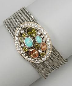 Take a look at this Silver Crystal Stone Bracelet by Fantasy World Jewelry on #zulily today!