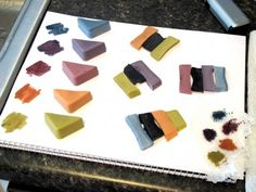 Creating Custom Colors using Oxides and Ultramarines - Color Palette 1   Lovin Soap Studio