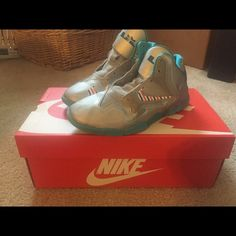 Kids Turquoise Lebrons Kids Turquoise Lebrons w/out shoe strings or box. Nike Shoes Sneakers