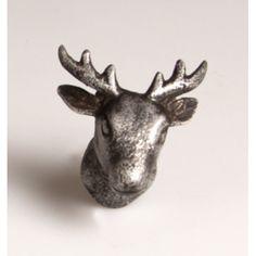 Metal Stag Head Drawer Knob
