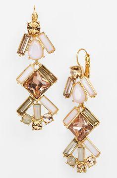kate spade new york 'baguette bridal' linear chandelier earrings