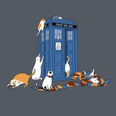 Tardis Cats T-Shirt $12 Doctor Who tee at Blue Box Tees!
