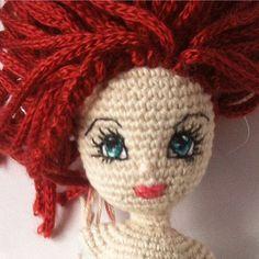 Sweet face  #crochetdoll #doll #crochet #crochet #crochettoys #amigurumi #amigurumidoll #eyesembroidery